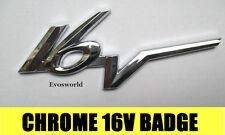 CHROME 16V BADGE SILVER 3D EMBLEM STICKER DECAL CITROEN SAXO VTR VTS ZETEC