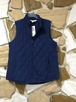 Navy Blue Coldwater Creek Lightweight Quilted Vest  Size Small