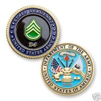 """ARMY STAFF SERGEANT E-6 1.75"""" MILITARY CHALLENGE COIN"""