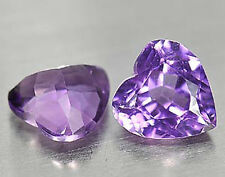 4,26 ct  Faint Purple Amethyst - Heart shape - Matching Pair - Brazil - VVS