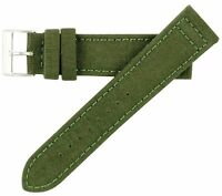 22mm Hadley-Roma Men's Genuine Cordura Canvas Green Olive Watch Band Strap MS850