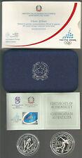 """REPUBBLICA ITALIANA - 5+10 Euro argento 2005 """"Olimpiadi Torino - 2^ em."""" PROOF"""