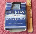 Vintage Blue Jay Razor Blades Super thin Hill & McLaughlin Store Display Ad USA