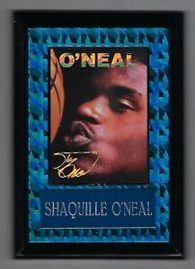 "Vintage 1990s 6.5"" x 4.5"" Card Plaque Shaq Shaquille O'neal Orlando Magic #4"