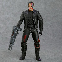 "The Terminator T-800 Arnold Schwarzenegger Action Figure Model Toy 7"" Santa Gift"