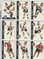 1956-57 PARKHURST REPRINTS CHICAGO BLACK HAWKS 25 DIFFERENTS CARDS      a