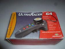 BOXED NINTENDO 64 ULTRA RACER MINI HAND HELD STEERING WHEEL CONTROLLER 10 BUTTON