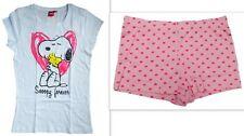 NEU niedliches Damen Shorty Set kurze Hose Shirt mit Snoopy Druck Gr.S,M,L,XL