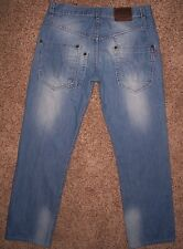 """Men's 32x30 FIDLIGUIA """"Knighthood"""" Button-Fly MOTORCYCLE JEANS, Portugal size 40"""