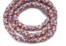 African Krobo Fancy POWDERGLASS Trade Beads Ghana