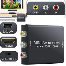 Mini AV ZU HDMI RCA CVBS Video Konverter Composite DVD Audiosignal Adapter 1080P