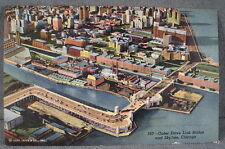 VTG Link Bridge Skyline Chicago Ill RPPC Real Photo Linen Cityscape