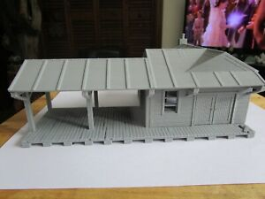 "(1) "" S ""  SCALE  SMALL TOWN FREIGHT STATION  ""HOLLOW""  3D PRINTED  1:64 / 1/64"