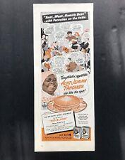 Original Vintage Aunt Jemima Pancakes Magazine Print Ad Comics Black Americana