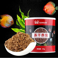 45G SUNSUN BLOODWORM FREEZE DRIED FISH FOOD FOR TROPICAL CICHLID BETTA KOI FISH