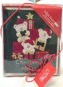 """JC Penny Baby's Holiday Christmas Memory 4"""" x 6"""" Photo Album Only 80 Pictures"""