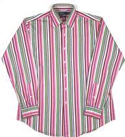 Polo Ralph Lauren Mens Striped Shirt Long Sleeve Curham T Classic Fit S Large L