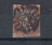 GB QV 1841 1d Red Ivory Head/Maltese Cross Used J5930