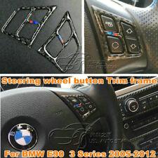 Genuine Carbon Fiber For BMW 3 Series E90 Car Steering Wheel Button Trim Frame