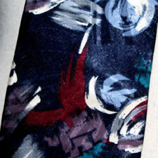 """Pierre Cardin Mens Necktie Blue Red White Abstract Paint Stroke Print 57"""" x 4"""""""