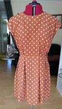 Glamorous Brown Dotted Short Sleeve Shift Dress - UK size 12