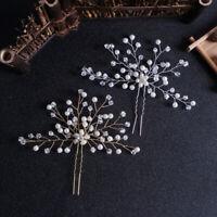 Pearl Hair Pin Bridal Clips Hairpins Bridesmaid Tiara Jewelry Hair Accessor ls