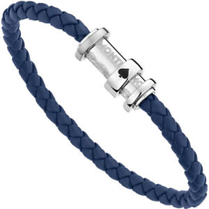 Mens bracelet Montblanc Around the World in 80 days 12834463 blue leather medium