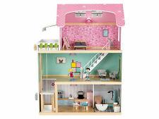 PLAYTIVE XXL Puppenhaus 38 teilig Echtholz Holz Haus Kinder Spielzeug Neu & OVP