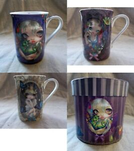 Jasmine Becket-Griffith Mugs.Strangelings Gothic Steampunk Dragon Flower Lily