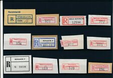 D096858 Nordic Countries Scandinavia Nice selection of Used Registration Labels