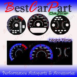 BLACK 99-03 Acura TL INDIGLO GLOW BLUE/WHITE EL REVERSE GAUGES