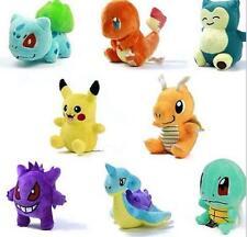 8 Styles Pokemon Bulbasaur Plush Toy Stuffed Animal Doll Teddy 5-6'' Kid Gift