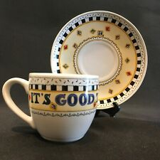 Mary Engelbreit Tea Cup & Saucer It's Good to be Queen Andrews McMeel Publishing