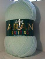 400g Woolcraft 100% Acrylic Aran Yarn - Mint