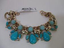 Lee By Lee Angel Capri Cabochon Link Bracelet NWT $48 TURQUOISE