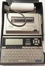 Canon X-07 ordinateur vintage prog + imprimante matricielle color X-71 + XM-101