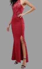 Lipsy Red Lace Wax Artwork Maxi Dress UK 16 EU 44 NH002 PP 03