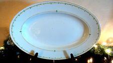 """Vintage Societe Ceramique 16"""" Oval Platter Made in Holland Maestricht"""