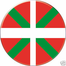 Pin Button Badge Ø38mm Drapeau Flag Pays Basque