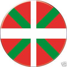 Pin Button Badge Ø38mm Drapeau Flag Pays Basque