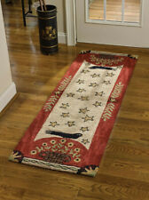 """FOLK CROW HAND HOOKED COUNTRY AREA RUG RUNNER By PARK DESIGNS LARGE 24""""x72"""""""