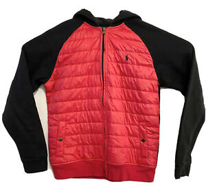 Polo Ralph Lauren Quilted Front Boy's Jacket Size XL/TG (18-20) Hooded Red
