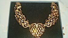 "VINTAGE JOSE' MARIA BARRERA  ANTOINETTE NECKLACE **NEW IN BOX"" FOR AVON, SIGNED"
