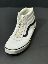 VANS Ward Hi Youth Size US 3.5 White Leather High Top Sneakers Shoes
