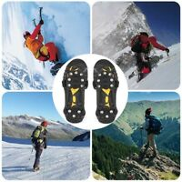 1Pair Anti-Slip 10 Teeth snow cleats overshoes Studded Ice Traction shoe