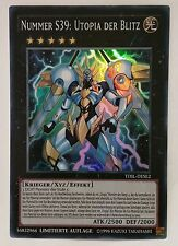 *** NUMBER S39: UTOPIA THE LIGHTNING *** GERMAN SUPER RARE TDIL-DESE2 YUGIOH!