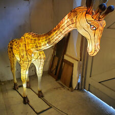 More details for  giraffe,life size,zoo,model,illuminated,metal,fabric,figure,sculpture,animal