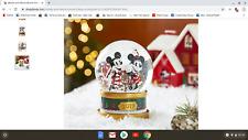 2019 Disney Christmas Snowglobe NIB