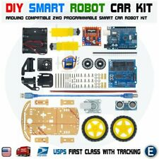 DIY  Arduino Compatible 2WD Programmable Smart Car Robot Chassis Robotics Kit