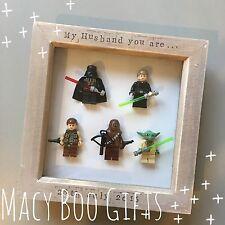 Star Wars Special Edition Lego Frame Superhero Husband Dad Daddy Grandad